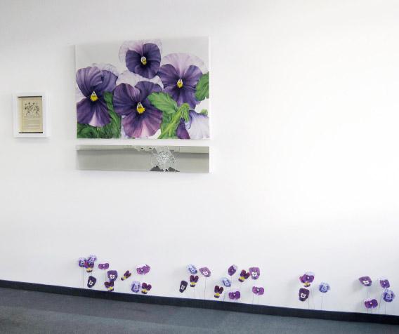 Kunst Installation Stiefmütterchen