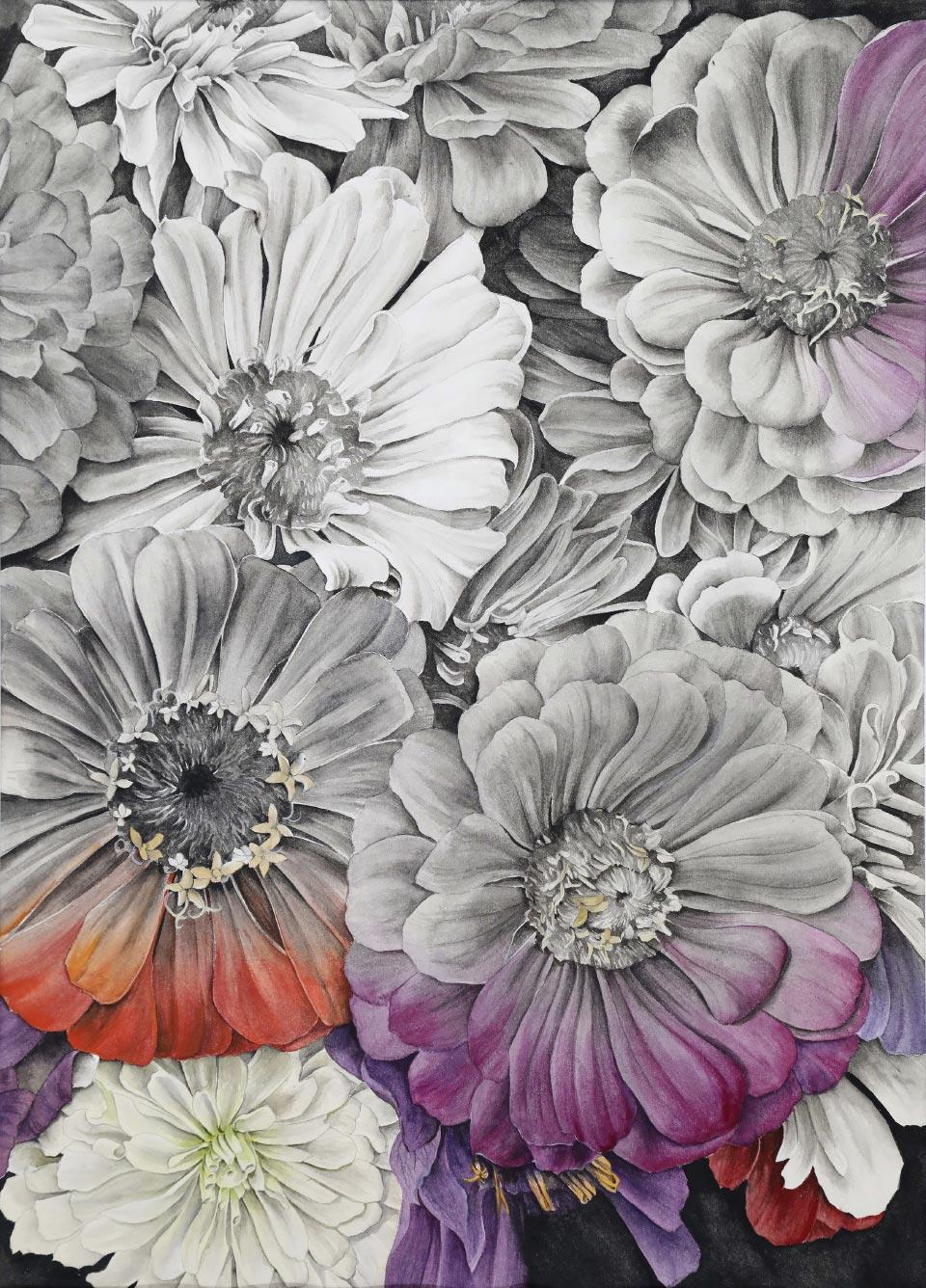 Eine Blume Aquarell auf Bütten