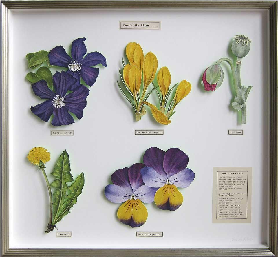 Durch die Blume Aquarell Objektrahmen